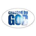 created by God - Sticker (Oval)