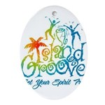 Island Groove Ornament (Oval)