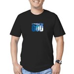 created by God - Men's Fitted T-Shirt (dark)