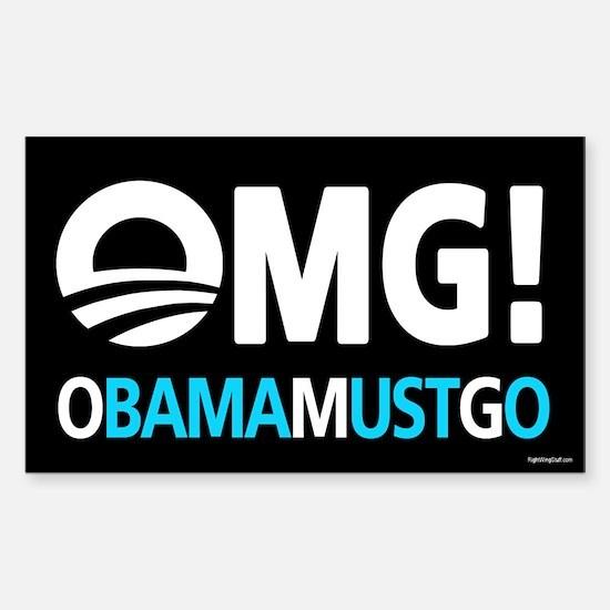 OMG! obamamustgo Sticker (Rectangle)