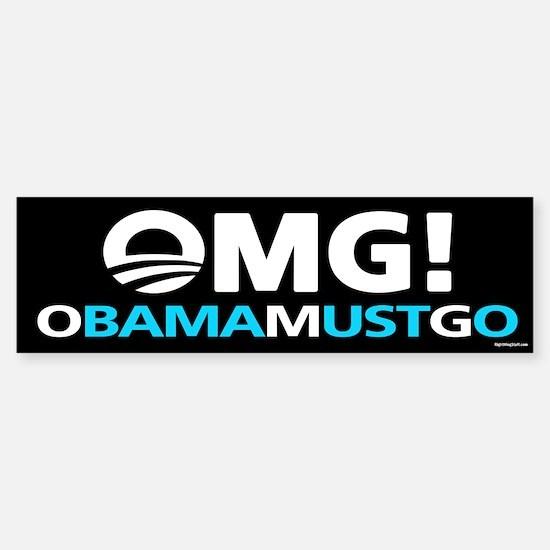 OMG! obamamustgo Sticker (Bumper)