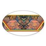 African Culture Oval Sticker