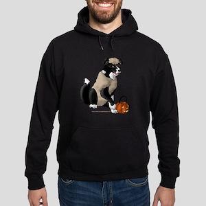 Sheepish Border Collie Hoodie (dark)