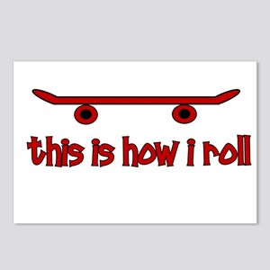 Skateboard This Is How I Roll Postcards (Package o