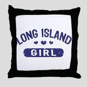 Long Island Girl Throw Pillow