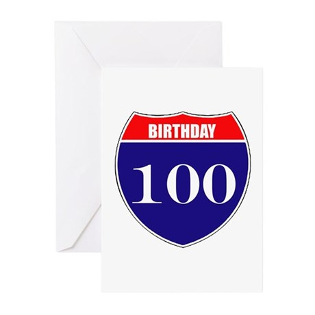 100th Birthday! Greeting Cards (Pk of 10)