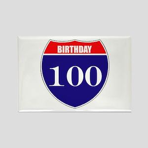 100th Birthday! Rectangle Magnet