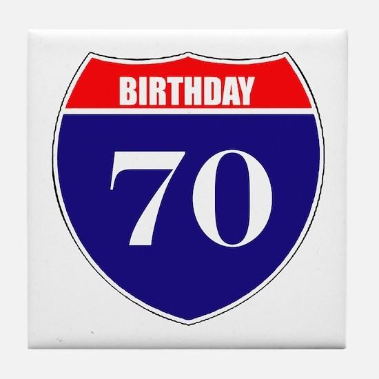 70th Birthday! Tile Coaster