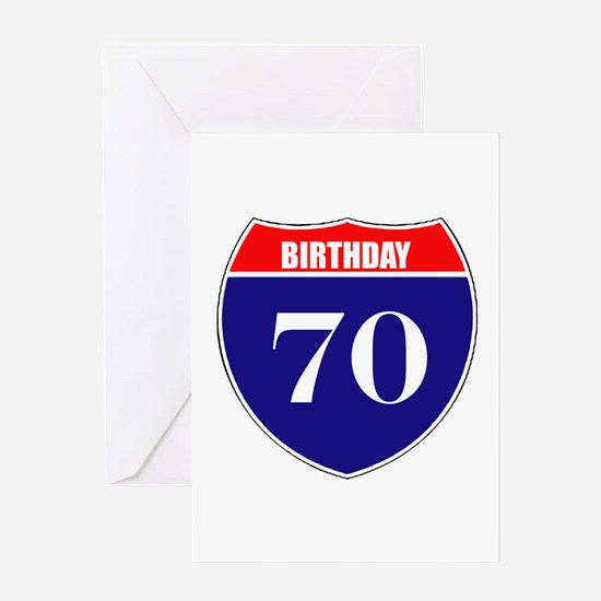 70th Birthday! Greeting Card