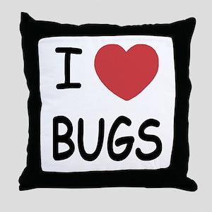 I heart Bugs Throw Pillow