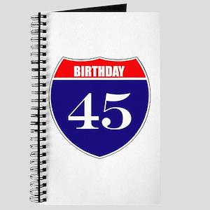 45th Birthday! Journal