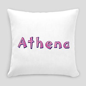 Athena Pink Giraffe Everyday Pillow
