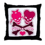 funny valentine Throw Pillow