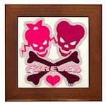 funny valentine Framed Tile