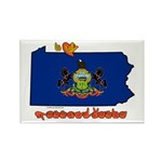 ILY Pennsylvania Rectangle Magnet (100 pack)