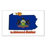 ILY Pennsylvania Sticker (Rectangle 50 pk)