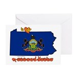 ILY Pennsylvania Greeting Cards (Pk of 10)