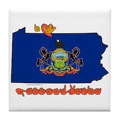 ILY Pennsylvania Tile Coaster