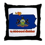 ILY Pennsylvania Throw Pillow