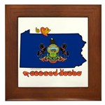 ILY Pennsylvania Framed Tile