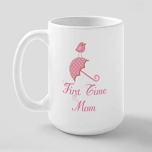 Birdie First Time Mom Large Mug