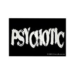 Psychotic Rectangle Magnet (100 pack)