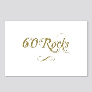 Fancy Gold 60th Birthday Postcards (Package of 8)