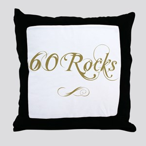 Fancy Gold 60th Birthday Throw Pillow