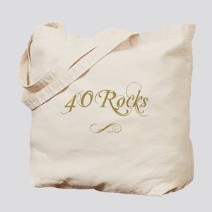 Fancy Gold 40th Birthday Tote Bag