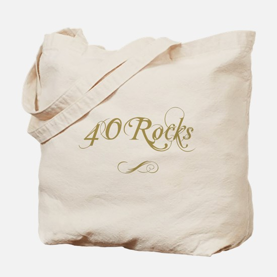 Fancy Gold 40th Birthday Tote Bag