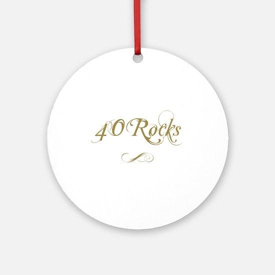 Fancy Gold 40th Birthday Ornament (Round)