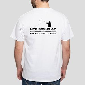 Fishing White T-Shirt