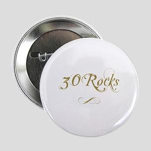 "Fancy Gold 30th Birthday 2.25"" Button"