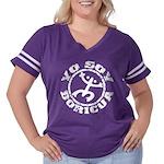 Yo Soy Boricua Women's Plus Size Football T-Shirt