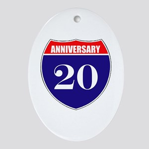 20th Anniversary! Ornament (Oval)