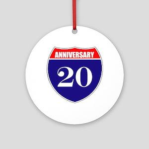 20th Anniversary! Ornament (Round)