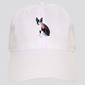 Boston terrier with Flag Cap