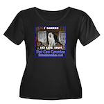 Guard Cat Women's Plus Size Scoop Neck Dark T-Shir
