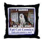 Guard Cat Throw Pillow