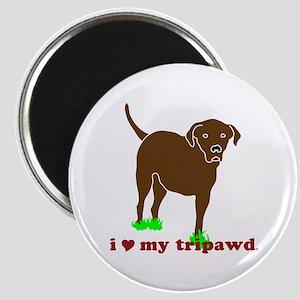 I Love My Tripawd Magnet