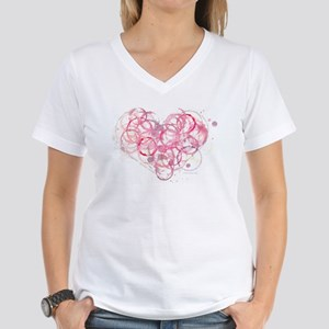 Women's V-Neck T-Shirt /2-sided Back has no text