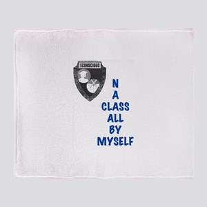 A Class All By Myself Throw Blanket