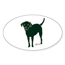 Tripawds Rear Leg Black Lab Sticker (Oval)
