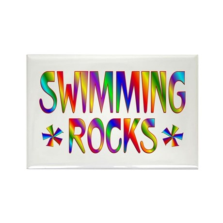 Swimming Rectangle Magnet (100 pack)