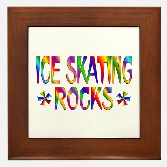 Ice Skating Framed Tile