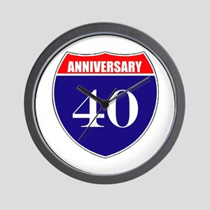 40th Anniversary! Wall Clock