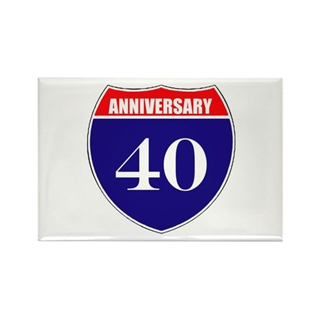 40th Anniversary! Rectangle Magnet