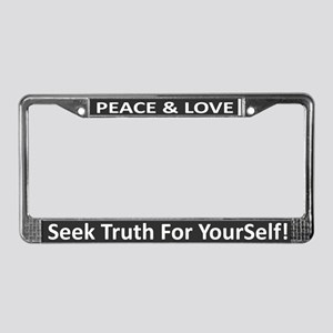 Peace & Love ~ License Plate Frame