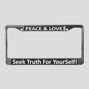 Peace & Love ~ License Plate Frame