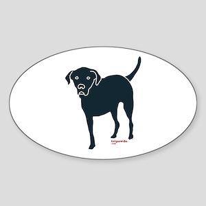 Tri-Lab Silhouette (Front) Sticker (Oval)